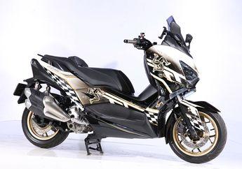 Simpel tapi Ganteng, Motor Yamaha XMAX Ini Pakai Motif Helm Langka