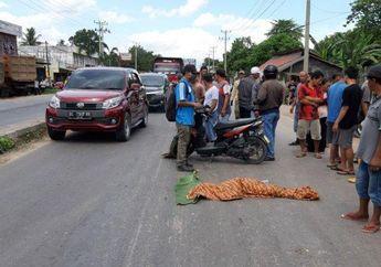 Tragis, Tidak Pakai Helm Pengendara Motor Tewas Setelah Menabrak Toyota Fortuner
