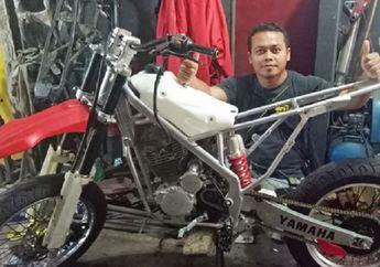 Surganya Penggila Motor Trail, Agra Jaya Motor Spesialis Produksi Rangka Custom