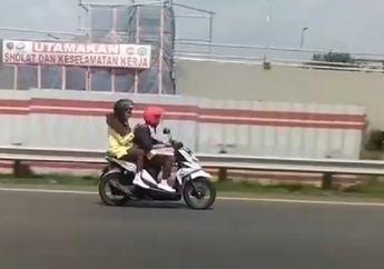 Nyuri Start, Pemotor Ini Sudah Masuk Jalan Tol Duluan di Jagorawi