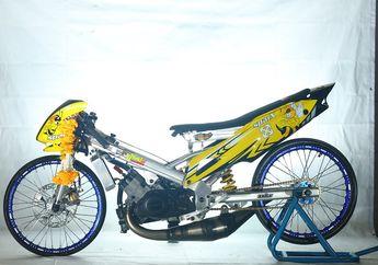 Motor Legendaris Honda Nova Dash, Ubahan Draglooks Thailand Bikin Lawan Mundur