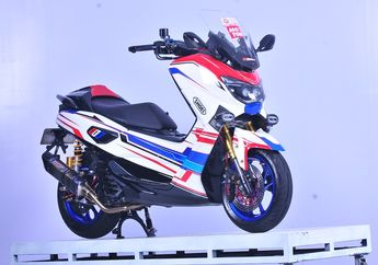 Helm Shoei X14 Assail TC1 Jadi inspirasi Modifikasi Yamaha NMAX Ini