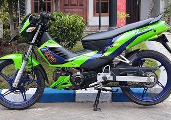 Motor Langka Kawasaki Kaze  Dibikin Ayam Jago Terlihat Pangling