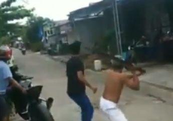 Tegang! Video Penangkapan Maling Motor di Banjarmasin, Pelaku Nyaris Tewas Dihajar Balok