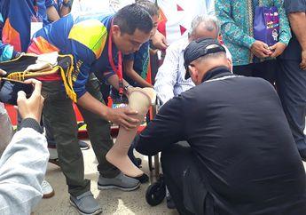 Peduli Korban Kecelakaan Lalu Lintas, Polisi Bagikan Kaki Palsu dan Santunan