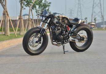 Angker! Tampilan Baru Yamaha Scorpio Usung Konsep Cafe Racer Berkarat