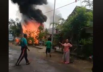Mencekam, Video Pertamini Terbakar Hebat di Bojonegoro, Langsung Meledak Warga Histeris