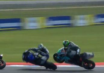 Tabrak Franco Morbidelli di Lap Terakhir MotoGP Argentina, Maverick Vinales Menyesal
