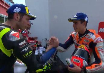 Sempat Musuhan, Ini Perasaan Marc Marquez Salaman Sama Valentino Rossi