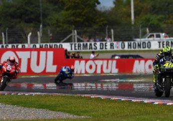 Panas Dingin Lihatnya, Video Detik-detik Valentino Rossi Kalahkan Andrea Dovizioso di Lap Terakhir MotoGP Argentina