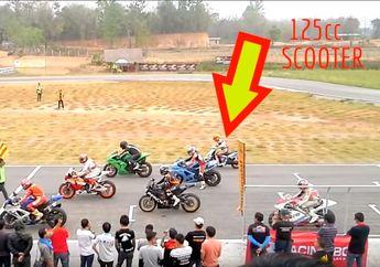 Viral Suzuki GSX-R 1000 VS All New Honda CBR250RR Balap di Sirkuit Kecil, Bisa Jadi Kejadiannya Seperti Video Ini