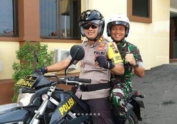 Kompak! Duet TNI dan Polri Gelar Patroli Gabungan Naik Motor Trail, Siaga Pengamanan Pemilu