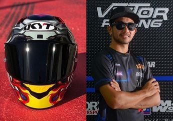 Yudisthira Pembalap Superbike Asia Punya Helm Baru, Maknanya Dalam