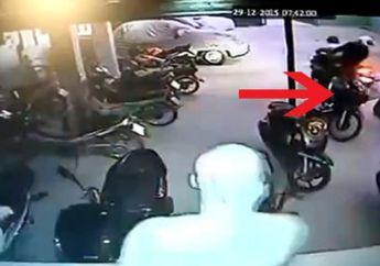 Apes, Maling Motor Terciduk Sedang Mendorong Kawasaki Ninja Colongan