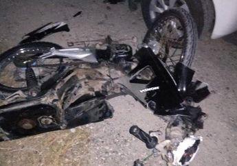 Sadis, Honda Supra Hancur Berkeping Setelah Adu Banteng Dengan Toyota Avanza