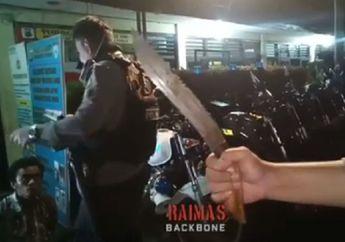 Video Tiga Pemuda Gemetaran Ditegur Tim Raimas Backbone, Naik Motor Bawa-bawa Golok