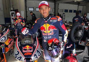 Naik Terus Catatan Mario Suryo Aji di Red Bull Rookies Cup Spanyol, Start di Posisi 14