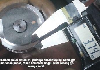 Motor Honda BeAT Pakai Piston Yamaha Z1 Power dan Torsi Naik