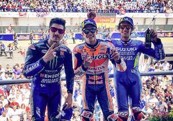 Momen Perayaan Kemenangan Marc Marquez di MotoGP Spanyol, Alex Rins Contek Gaya Marquez