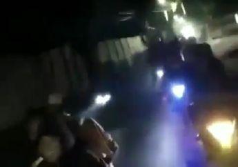Tambun Mencekam, Video Geng Motor Tebar Ancaman, Teriak-teriak Tenteng Celurit dan Golok