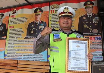Viral Karena Mengganjal Truk Yang Mengalami Rem Blong, IPDA Tatang Diberi Penghargaan