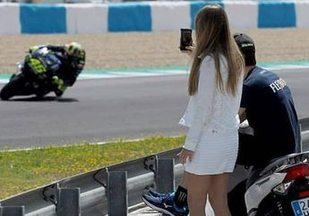 Ada Mata-mata Pas Valentino Rossi Tes MotoGP Jerez 2019, Naik Motor Matik Honda