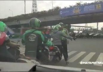Waduh, Video Driver Ojol Enggak Tau Aturan, Diperingati Malah Melawan Polisi dan Kabur