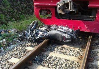 Ngilu, Terobos Palang Pintu Kereta, Pengendara Tewas Dengan Motor Terjepit