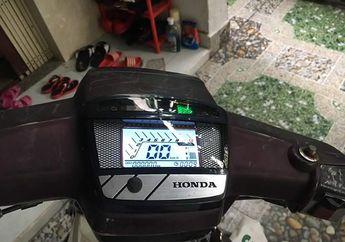 Tambah Canggih, Motor Jadul Honda Astrea Prima Pakai Speedometer Digital