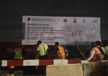 Resmi, Dua Pelintasan Kereta Api Di Jakarta Timur Ditutup, Pemotor Cari Jalan Alternatif