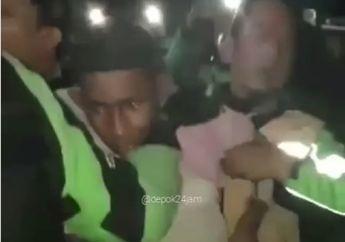 Video Komplotan Begal Tertangkap Warga dan Ojol di Depok, Bawa Gergaji Pemecah Es Balok