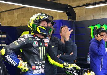 Epik! Valentino Rossi Lolos Ke Q2 MotoGP Prancis, Pakai Ban Slick Di Trek Basah