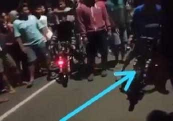 Video Detik-detik Polisi yang Menyamar Bubarkan Balap Liar, Baru Mau Start Joki Langsung Didorong!