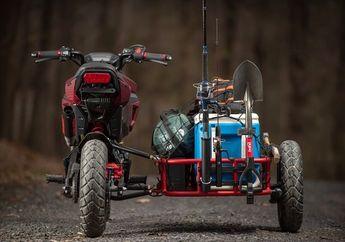Kocak, Penggemar Mancing Mania Pasang Sespan di Honda MSX125, Muatannya Ngeri