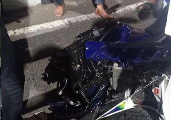 Semarang Geger, Yamaha R15 Hantam Tiang Listrik, Rider Dituduh Punya Ilmu Kebal