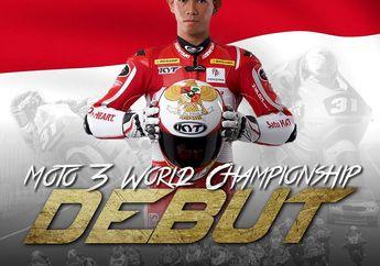 Lesu, Pembalap Indonesia Gerry Salim Cedera di CEV Moto2 Aragon