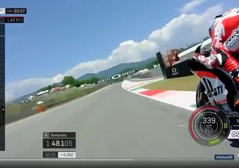 Wow! Video Straight di Trek MotoGP, Top Speed Lebih 350 Km/Jam