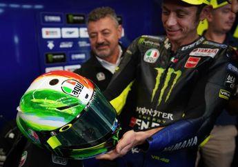 Mirip Lukisan Cat Minyak, Begini Wujud Helm Spesial Valentino Rossi di MotoGP Italia
