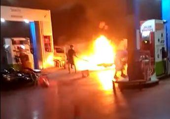 Lumajang Mencekam, Video Kobaran Api Nyaris Hanguskan Pom Bensin, Gara-gara Selang Karburator