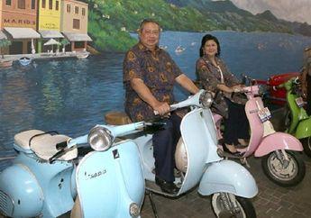 Tinggal Kenangan, Pose Kemesraan Mantan Presiden SBY Bareng Ani Yudhoyono Naik Vespa di Jawa Timur