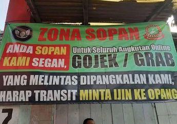 Spanduk Bernada Ancaman di Bandung, Driver Ojol Lewat Harus Ijin ke Ojek Pangkalan, Netizen Langsung Bereaksi