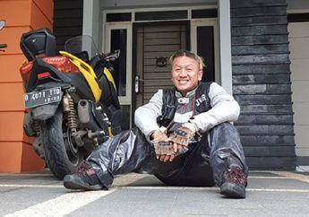 Curhat Sandy Pas Band Turing  ke Bandung Naik Yamaha XMAX, Diwarnai Insiden Jas Hujan