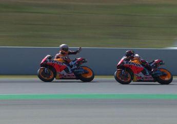 Kenapa Nih, Video Marc Marquez Emosi Ke Jorge Lorenzo di MotoGP Catalunya 2019