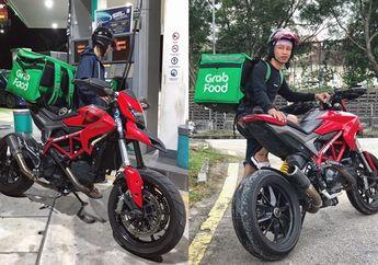 Bikin Melongo, Video Driver Ojol Tercepat Di Dunia, Antar Pesanan Naik Moge Ducati Hypermotard Harga Rp 260 Juta