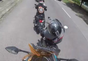 Jarak Terlalu Dekat, Video Tabrakan Beruntun Konvoi Yamaha NMAX, Korban Sampai Terseret di Jalan