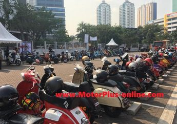 Scooter Enjoy Jakarta 2019, Riding Bareng Walikota Jakpus Ke Kemayoran