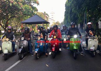 Rame Banget Gelaran SEJ 2019, Walikota Jakpus Pilih Vespa Warna Hijau
