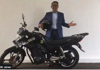 Dibilang Hoax Ridwan Kamil Tes Motor Listrik Lokal Ternyata Mirip Buatan Cina, Ini Lo Motornya Yang sama