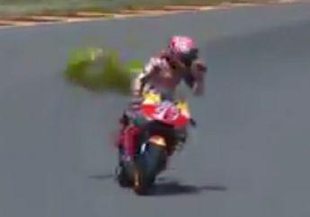 Walah, Video Marc Marquez Dibikin Repot Balon Setelah Menang di MotoGP Jerman, Hampir Jatuh