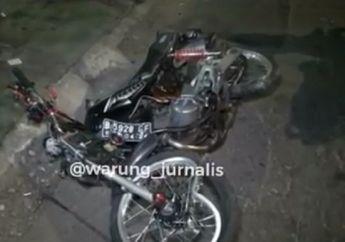 Gerobak Misterius Melintas, Motor Yamaha RX King Hancur, Pengendara Tewas Seketika